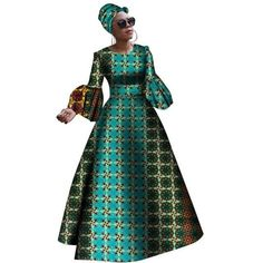 Dashiki Print Maxi African dresses for women – Afrinspiration African Dresses For Women, African Attire, African Fashion Dresses, African Clothes, Dressy Dresses, Plus Size Maxi Dresses, African Dashiki, Fashion Looks, African Print Fashion