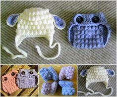 Bobble Crochet Lamb Set Free Patterns ** FREE PATTERN as at 22nd August 2015 **