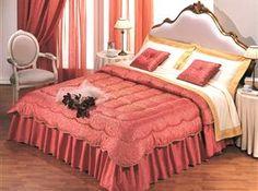 Trapunta Eleonora matrimoniale invernale 260x270 Colore Rosso