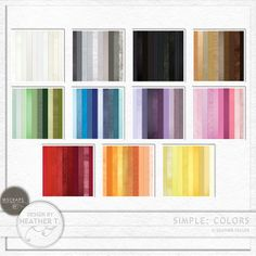 Simple: Colors :: Papers :: Memory Scraps