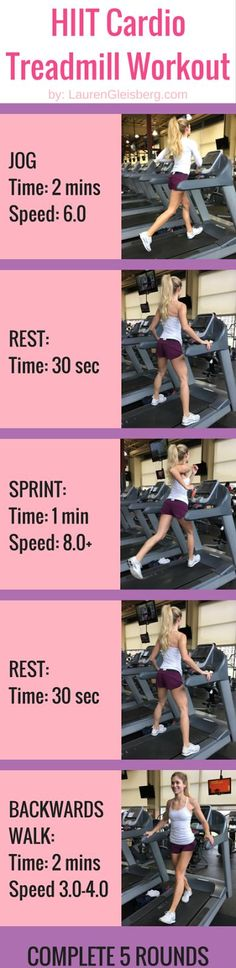 HIIT Cardio Treadmill Interval Workout | click for the full workout program by LaurenGleisberg.com