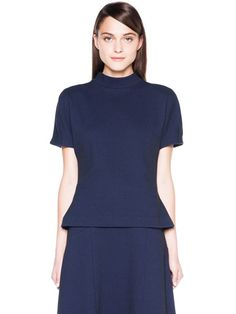 Honeycomb Double Knit Top. Electric Blue. Veronika Maine. I got this top last week. Blue minimalism; love it.