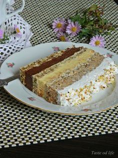 Taste of life: Interkontinental torta - Food: Veggie tables Brze Torte, Rodjendanske Torte, Torte Recepti, Kolaci I Torte, Bulgarian Recipes, Croatian Recipes, Baking Recipes, Cake Recipes, Dessert Recipes