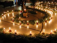 A Mountain Hearth: Advent Spiral Walk