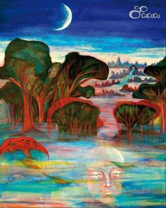 """Agua bendita, bendita agua"", Ouka Leele. acrílico y óleo sobre lino. Dimensiones: 130 x 162 cm"