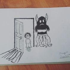 """#ilusion_arts. Hola!!! Estamos en el 6° dia de Inktober !!!! El tema de hoy es: HIDDEN (Oculto) - """"Todo el mundo tiene un significado OCULTO"""" ~Nikos Kazantzakis - Es muy divertido ser parte de esta iniciativa y espero que ustedes también se unan!!! - #inktober #inking #drawing #ink #drawingchallenge #inktober2016 #sketchbook #illustration #artists #drawers #artistsoninstagram"""