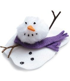 Cute Winter Craft Idea: Melty the Snowman