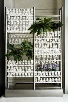 Macrame Vertical Garden Installation at Hotel Aguas de IBiza by Ranran Design