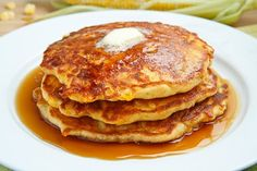 Fresh Corn Pancakes - we made corn waffles one time and they were delicious. Gotta try this one.