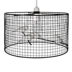 Modern Black Metal Birdcage Ceiling Light Pendant Shade Shabby Chic Lampshade | eBay