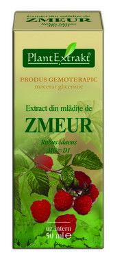 Extract din mlădite de Zmeur (RUBUS IDAEUS) - 50 ml -susţine echilibrul hormonal al aparatului genital feminin de la pubertate la menopauză.