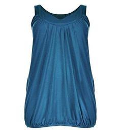 Prezzi e Sconti: #Curves green bubble hem vest  ad Euro 6.99 in #New look #Womens clothing tops