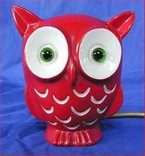 Mid-Century Bright Red Owl PERFUME LAMP Goebel Walter Bosse, $295.00 from Decoratifs.