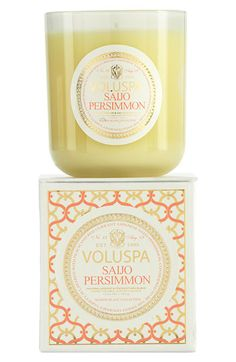 Voluspa 'Maison Blanc - Saijo Persimmon' Boxed Candle available at Nordstrom