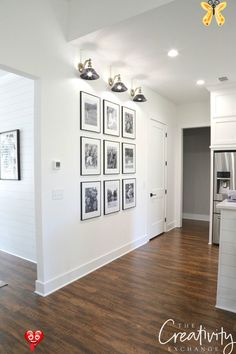 The Easiest Gallery Wall You Could Ever Do Black and White Gallery Wall Shortcuts<br> Step by step tricks and shortcuts for creating the easiest gallery wall you could ever do with frames and family photographs.