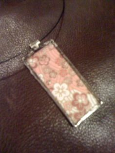 Made at a jewellery class at Soigne Atelier. This is actually the back side to the blue pendant.