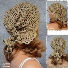 Diy Crafts - Knitting Patterns Lace Slouchy Hat 34 New Ideas Crochet Cap, Crochet Beanie, Crochet Scarves, Crochet Shawl, Crochet Stitches, Knitted Hats, Diy Crafts Knitting, Loom Knitting, Crochet Crafts