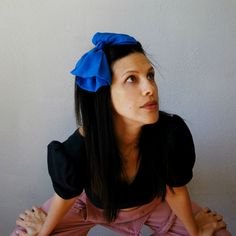 vintage CHIFFON hair bow / 1980s huge by vintagemarmalade on Etsy, $18.00