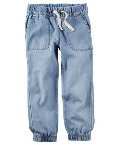 Toddler Girl Chambray Joggers from Carters.com. Shop clothing & accessories from a trusted name in kids, toddlers, and baby clothes.