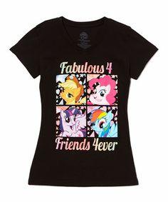 Look what I found on #zulily! Black 'Fabulous 4' Tee - Girls #zulilyfinds