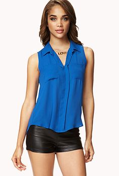 Summer Nights Chiffon Shirt | FOREVER 21 - 2055267298