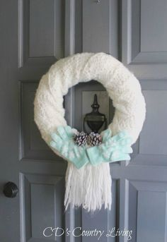 s 14 awesome ways to reuse your christmas decorations after christmas, christmas decorations, Wrap your wreath with a scarf