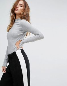 Buy it now. Kendall + Kylie Side Cut Out Top - Black. Top by Kendall+ Kylie, Soft-touch jersey, High neck, Long sleeves, Cut-out design, Slim fit - cut close to the body, Machine wash, 95% Polyester, 5% Elastane, Our model wears a UK S/EU S/US XS and is 178cm/5'10 tall. ABOUT KENDALL + KYLIE Social media sweethearts Kendall + Kylie join forces to drop their debut footwear and womenswear collections. Straight from the FROW, the power siblings� caged heels, crop tops and lace jumpsuits take…