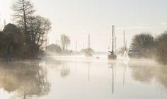 River Frome, by Wareham bridge, Dorset, UK.