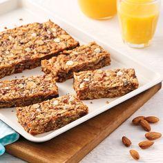Barres tendres amandes-coco - Les recettes de Caty Granola Barre, Chips, Cake Pops, Muffins, Banana Bread, Brunch, Gluten, Nutrition, Cookies