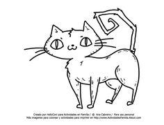 Dibujos de Halloween para Colorear: Gato Para Colorear Snoopy, Draw, Fictional Characters, Halloween Coloring, Halloween Coloring Pages, Drawings Of Cats, Activities, Colors, Blue Prints