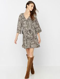 Rachel Zoe for A Pea in the Pod 3/4 Sleeve Paisley Print Maternity Dress