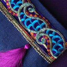 Evening bag ethnic clutch womens bag boho bag by BOHOCHICBYDAMLA