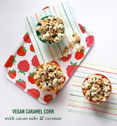 Vegan Caramel Corn with Cacao Nibs & Coconut // Twin Stripe