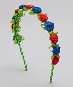 Another great find on #zulily! Red & Blue Garland Headband by Picki Nicki Hair Bowtique #zulilyfinds