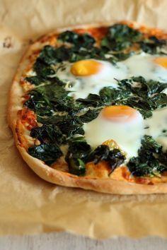 Pizza florentyńska #thermomix Pavlova, Frittata, Vegetable Pizza, Diet, Vegetables, Healthy, Food, Beverage, Thermomix