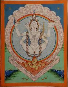 Vajrayogini (Buddhist Deity) - White Khechari (Shangpa)