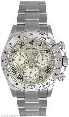 - Brand: Rolex - Series: Rolex Daytona - Condition: Certified Pre-Owned with Box and Booklets - Model Number: 116520 - Gender: Mens - Case Material: Stainless Steel - Case: Diameter 40mm - Dial: Custo