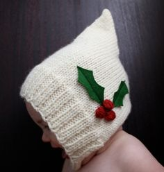 knitted pixie hat pattern