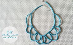statement necklace DIY | crazy about coral