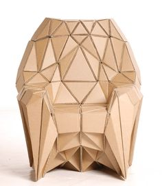 lazerian: bravais armchair and radiolarian sofa made of paper