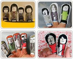 Handpainted rock n roll finger puppets featuring The Ramones, The White Stripes, David Bowie, Nirvana and [...]