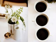 Coffee grounds vase fillers