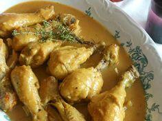 El delantal rojo : Pollo en salsa de almendras y especias