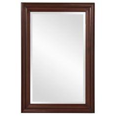 "View the Howard Elliott 53049 George 36"" x 24"" Rectangular Brown Mirror at Build.com."