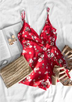 Sweet Blooms Romper - Red #lovepriceless
