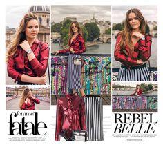 """Kristina Bazan - Kayture   Paris Street Style."" by sarahutcherson ❤ liked on Polyvore featuring Audemars Piguet, Louis Vuitton, GetTheLook, StreetStyle, paris, kayture and kristinabazan"