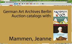 Auction catalogs with Mammen, Jeanne in the German Art Archives | auction catalogs