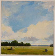 Sky Over Hay Bales - Jon Macadam