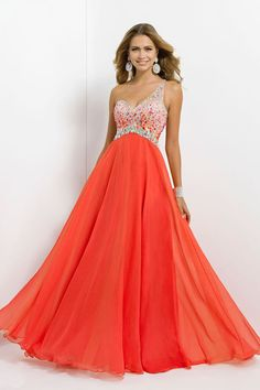 Shop 2014 Glistening Long One Shoulder Open Back A Line Princess Tulle Chiffon Prom Dresses Online affordable for each occasion