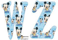 Festa Mickey Baby, Mickey E Minnie Mouse, Disney Fun, Baby Disney, Letras Do Mickey, Scrapbook Da Disney, Mickey Mouse Imagenes, Alfabeto Disney, Baby Mouse